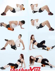 Con lăn massage tập yoga Foam Roller tốt cho sức khỏe