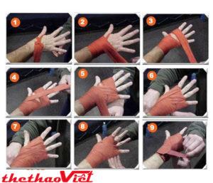 Bạn phải quấn tay thật kỹ trước khi tập