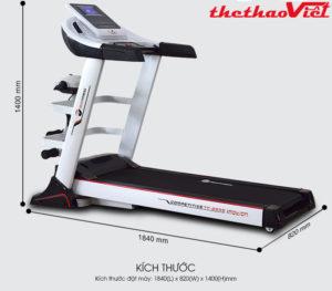 máy chạy bộ điện đa năng Tech Fitness TF-25AS.