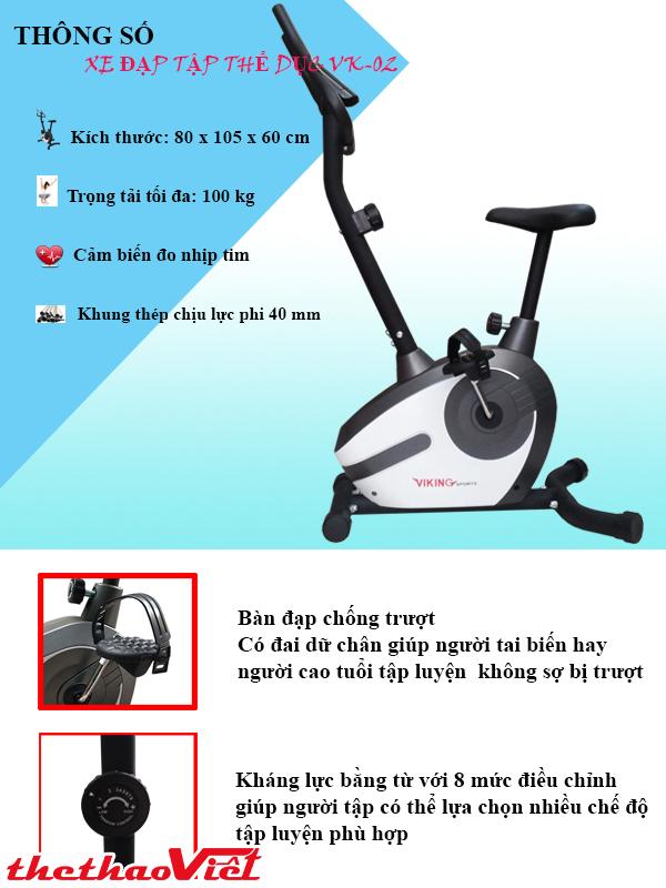 Xe đạp Tập Thể Dục Đa Năng Viking VK 02