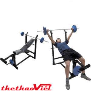 Tập luyện dễ dàng tại nhà với ghế đẩy tạ xuki có ép