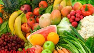 Hoa quả và rau củ cũng là hai thứ không thể thiếu