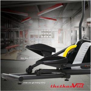 Xe đạp tập Techgym HQ - 07 có bàn đạp chống trượt đảm bảo an toàn cho người tập luyện