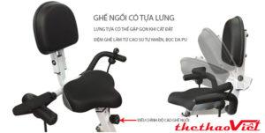 tựa và đệm ghế làm từ cao su tự nhiên mang đến sự thoải mái cho người tập