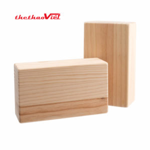 Gạch tập Yoga chất liệu gỗ mềm nhẹ, chắc chắn và ổn định
