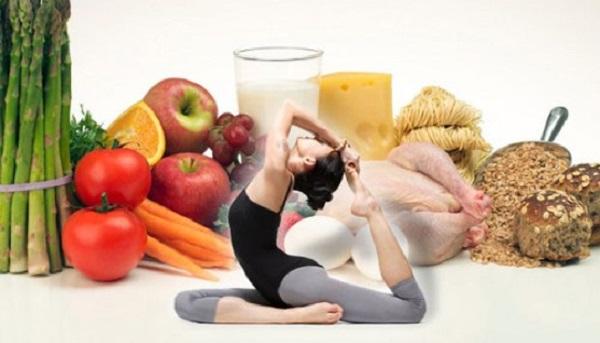 chế độ ăn cho người tập yoga