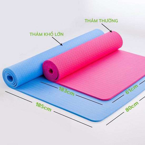 kich thước chọn thảm yoga