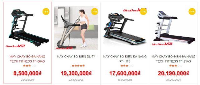 máy chạy bộ bao nhiêu tiền