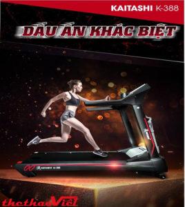 """Máy chạy bộ Kaitashi K – 388 là """"trợ thủ đắc lực"""" nâng cao sức khỏe mỗi ngày"""