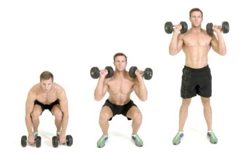 squat nâng tạ