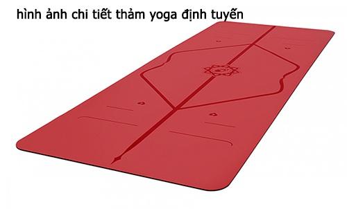 thiết kế thảm yoga định tuyến