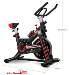 Kích thước xe đạp tập thể dục GH-709